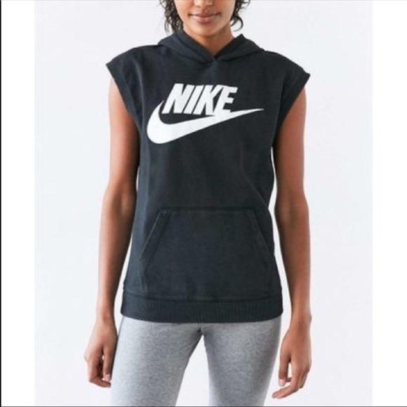 Women s Nike Solstice Sleeveless Pullover Hoodie 539fa0636